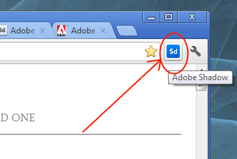 Adobe Shadow Icon Chrome