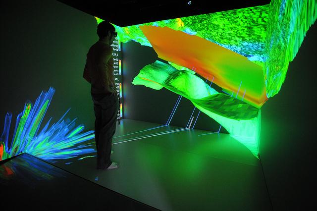 Person using virtual reality