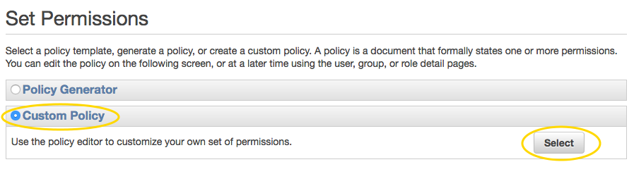 AWS IAM custom policy