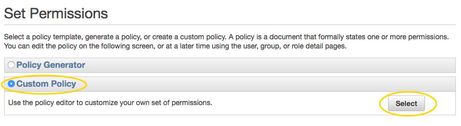 AWS IAM custom policy